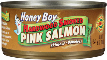 Honey Boy® Hardwood Smoked Pink Salmon 6 oz. Can