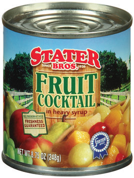 Stater Bros. In Heavy Syrup Fruit Cocktail 8.75 Oz Can