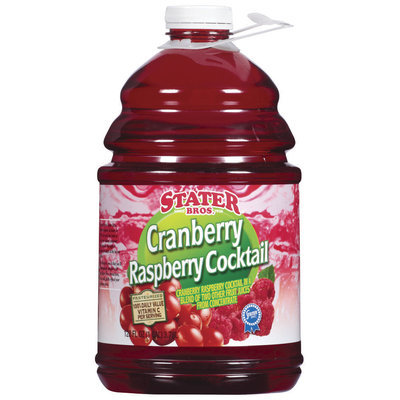 Stater Bros. Cranberry Raspberry Cocktail Juice 128 Oz Plastic Jug