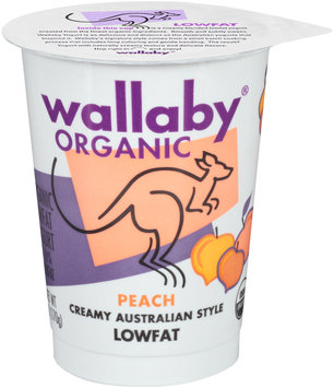 Wallaby® Organic Peach Lowfat Yogurt 6 oz. Cup