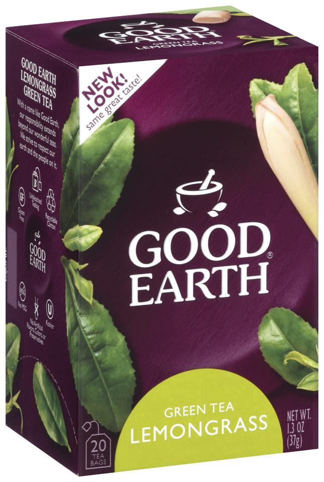 GOOD EARTH Lemongrass Green Tea Tea Bags 20 CT BOX