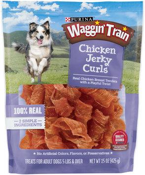 Purina Waggin' Train Chicken Jerky Curls Dog Treats 15 oz. Pouch