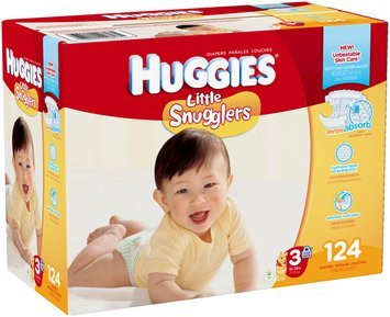 Huggies® Little Snugglers Size 3 Diapers 124 ct Box