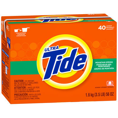 Tide Ultra Mountain Spring Scent Powder Laundry Detergent 56 oz. Box
