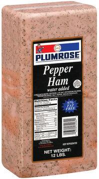 Plumrose Pepper Ham 12 Lb Wrapper