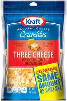 Kraft Natural Cheese Three Cheese Crumbles 8 oz. ZIP-PAK®