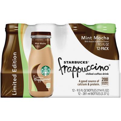 Starbucks® Mint Mocha Frappuccino® Coffee Drink 12 Pack 9.5 fl. oz. Glass Bottles