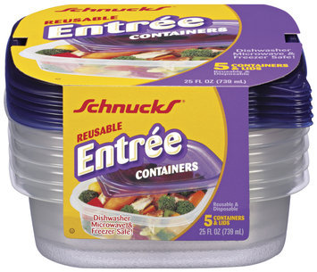 Schnucks Reusable Entree 25 Oz Containers 5 Ct