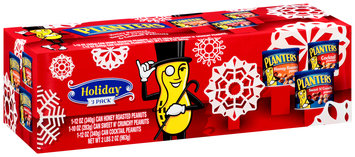 Planters Honey Roasted/Sweet n' Crunchy/Cocktail Peanuts Holiday Collection Box