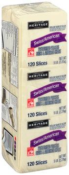 American Heritage® Pasteurized Prepared Swiss/American Cheese Singles 120-Slice Pack