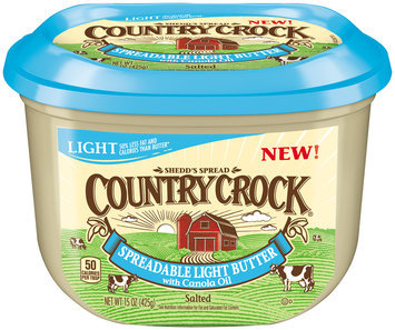 Country Crock® Spreadable Light Butter with Canola Oil 15 oz. Tub