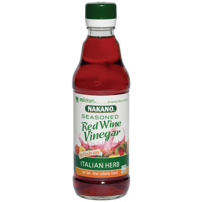 Nakano Seasoned Italian Herb  Red Wine Vinegar 12 Oz Glass Bottle