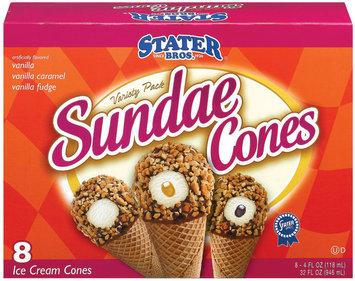 Stater Bros. Variety Pack 4 Ct Sundae Cones 32 Oz Box