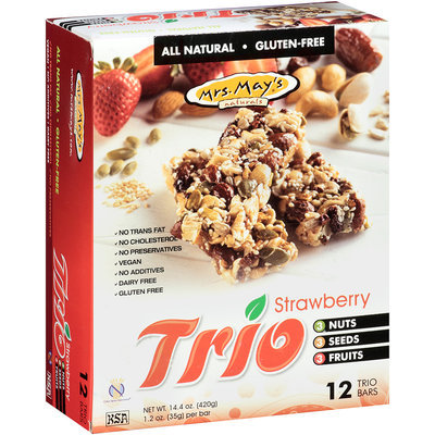 Mrs. May's® Trio Strawberry Snack Bars 12-1.2 oz. Wrappers
