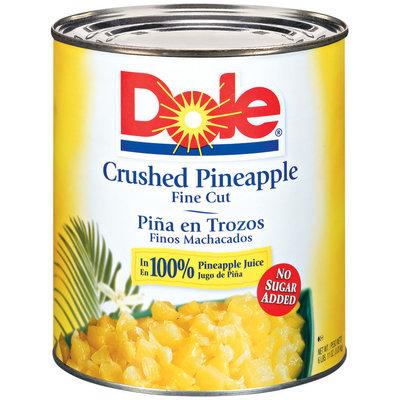 Dole Crushed Fine Cut In 100% Juice Pineapple