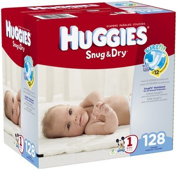 Huggies® Snug & Dry Size 1 Diapers 128 ct Box