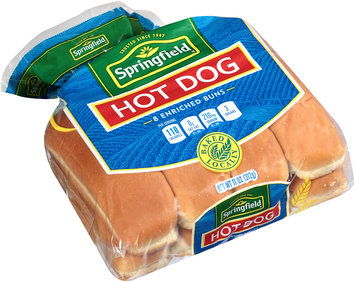 Springfield® Enriched Hot Dog Buns 8 ct Pack