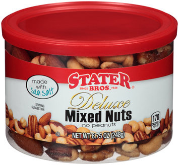 Stater Bros.® Deluxe Mixed Nuts 8.75 oz. Canister