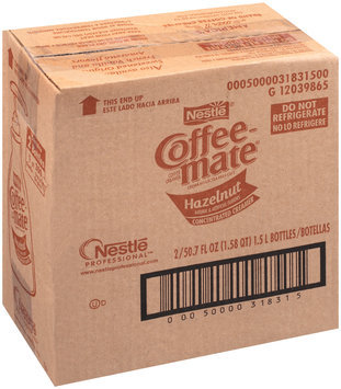 Nestlé Coffee-Mate Hazelnut Liquid Coffee Creamer 50.7 fl. oz. Bottle