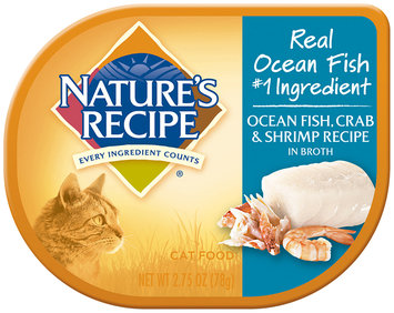 Nature's Recipe® Ocean Fish, Crab & Shrimp Recipe in Broth Cat Food 2.75 oz. Container