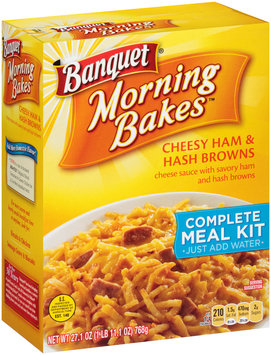 Banquet® Morning Bakes™ Cheesy Ham & Hash Browns Complete Meal Kit 27.1 oz. Box