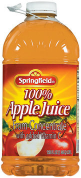 Springfield 100% Juice from Concentrate Apple Juice 128 Oz Plastic Bottle