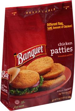 Banquet® Chicken Patties 24 oz. Bag