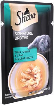 Sheba® Signature Broths Tuna, Shrimp & Crab in Clear Broth Premium Cat Food 1.4 oz. Pouch