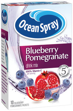 Ocean Spray Blueberry Pomegranate On The Go Sugar Free 10 Ct Drink Mix 1.1 Oz Box