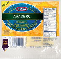 Kraft Natural Cheese Asadero Melting Cheese 12 Oz Well