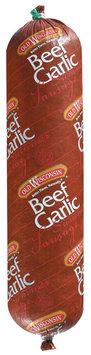 Summer Sausage 24 Oz Hand Tied Beef Garlic Summer Sausage 1350