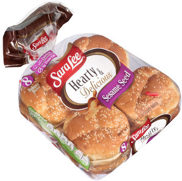 Sara Lee® Hearty & Delicious™ Sesame Seed Bakery Buns 8 ct Bag