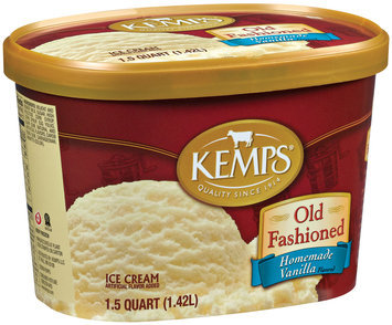 Kemps Old Fashioned Homemade Vanilla Ice Cream 1.5 Qt Carton