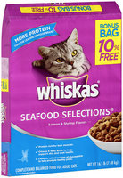 Whiskas® Seafood Selections® Salmon & Shrimp Flavors Dry Cat Food 16.5 lbs.