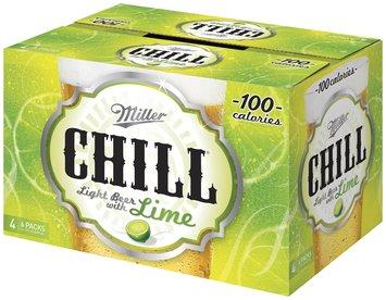 Chill Miller Chill 12 Oz Bottles 4-6 Pks Light Beer 24 Ct Box
