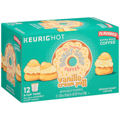 The Original Donut Shop® Vanilla Cream Puff Extra Bold Medium Roast Coffee 12-0.36 oz. Box