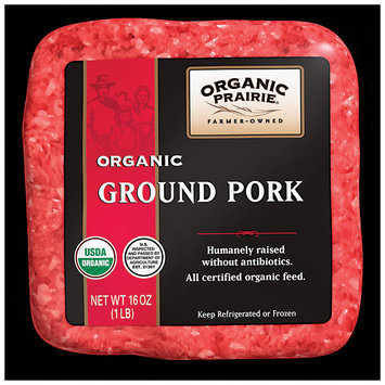 Organic Prairie Organic Ground Pork 1 lb. Package