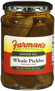 Farman's®Genuine Dill Whole Pickles 24 oz Jar