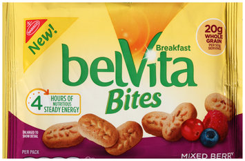 Nabisco belVita Bites Mixed Berry Mini Breakfast Biscuits 1.76 oz. Pack