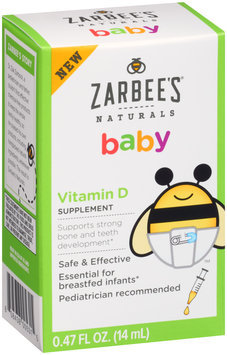 Zarbee's® Naturals Baby Vitamin D Supplement 0.47 fl. oz. Box