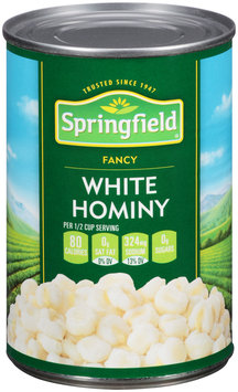 Springfield Fancy White Hominy 15 Oz Can