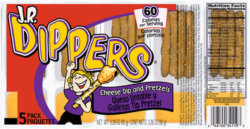 J.R. Dippers® Cheese Dip and Pretzels 3.26 oz. Tray