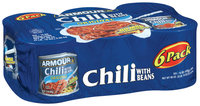 Armour Original W/Beans 15 Oz Chili 6 Ct Cans