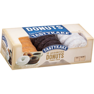 Tastykake® Plain/Frosted & Powdered Sugar Family Pack Assorted Donuts 18 oz. Box