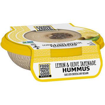 Food Should Taste Good Lemon & Olive Tapenade Hummus