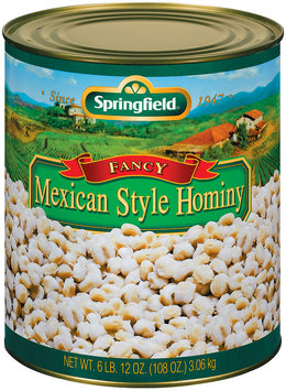Springfield Fancy Mexican Style Hominy 108 Oz Can
