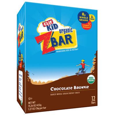 CLIF Kid® Organic ZBar Chocolate Brownie Energy Snacks 12 ct Box