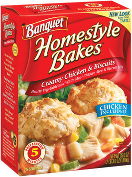 Banquet Homestyle Bakes  Creamy Chicken & Biscuits 35.6 Oz Box