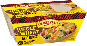 Old El Paso™ Taco Boats™ Whole Wheat Tortillas 8 ct Pack