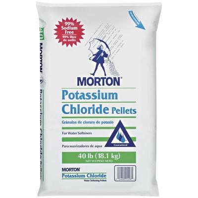 Morton Potassium Chloride  Water Softening Pellets 40 Lb Bag